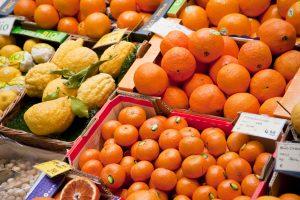Fresh citrus at farmers market